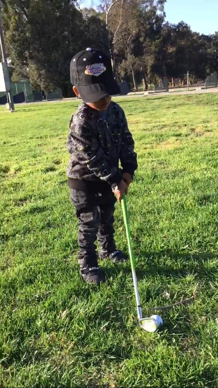Less than two years old golf prodigy Brian k Mcknight 111